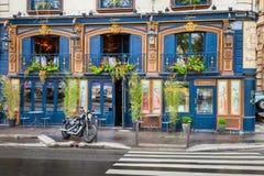 Bar facade on the Quai Des Grands Augustins, Paris Royalty Free Stock Photos