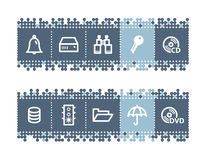 bar with file-server icons Stock Photos