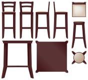 Bar furniture Royalty Free Stock Images