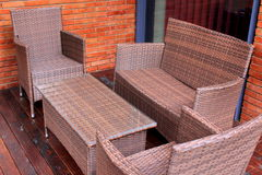 Rattan and wicker furniture Royalty Free Stock Photography