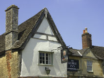 Bar George Inn, Lacock, WILTSHIRE, Angleterre, Royaume-Uni, l'Europe Image stock