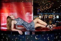 Bar girl Stock Image