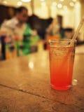 Bar. Glass in bar, barmen backside Royalty Free Stock Photography