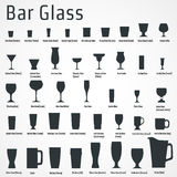 Bar glass Icon stock photos