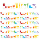 Bar glasses Royalty Free Stock Image