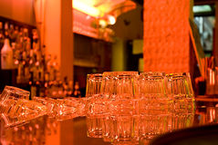 Bar glasses background Stock Image