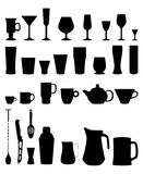 Bar glasses cups icon Stock Photos