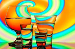 Bar glassware Royalty Free Stock Image