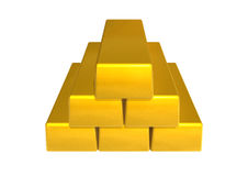 Bar gold Stock Images