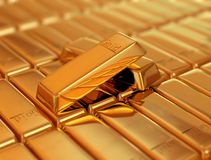 Bar of Gold. Gold ingot Stock Image