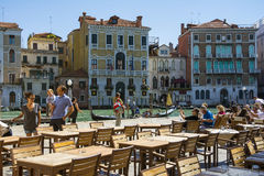 Bar on the Grand canal Royalty Free Stock Image