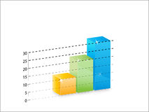 Bar graph. Illustration of a bar graph Royalty Free Stock Image