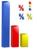 Bar graph Royalty Free Stock Photos