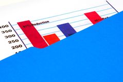 Bar graph. A bar graph in a folder royalty free stock images
