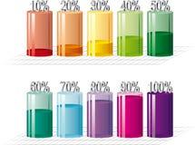 Bar graph. Illustration of bar graph. Vector Royalty Free Stock Photography