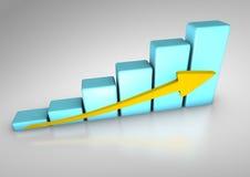 Bar graph Stock Photo