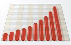 Bar graph vector illustration