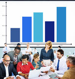Bar Graph Analysis Achievement Improvement Strategy Success Conc Royalty Free Stock Photo