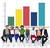 Bar Graph Analysis Planning Marketing Business Concept Stock Photo
