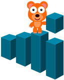 Bar graph bear Stock Photos