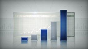 Bar Graph Blue stock video footage