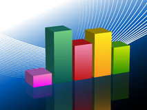 Bar Graph Business Chart Slide. An image of a bar graph business chart slide Stock Photos