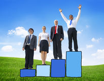 Bar Graph Business Development Occupation Team Teamwork Concept Stock Image