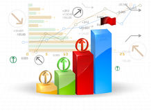 Bar graph business Royalty Free Stock Images