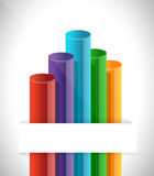 Bar graph chart Royalty Free Stock Image