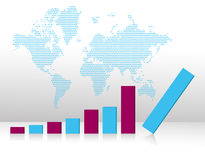 Bar graph chart falling Royalty Free Stock Image