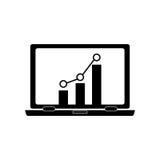 Bar graph chart icon image. Bar graph chart on computer screen  icon image  illustration design Royalty Free Stock Photos