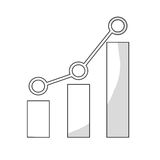 Bar graph chart icon image. Illustration design Royalty Free Stock Image
