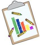 Bar graph on clip board Stock Image