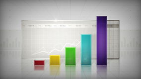 Bar Graph Color stock video footage