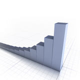 Bar graph (with copyspace). 3D bar graph with copyspace Royalty Free Stock Image