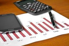 Bar graph data Royalty Free Stock Image