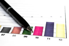 Bar graph data Stock Images