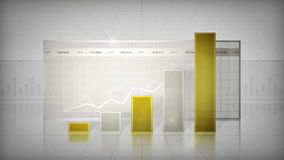 Bar Graph Gold stock video