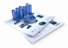 Bar Graph. Graphs of financial analysis - Isolated Royalty Free Stock Photos