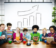 Bar Graph Growth Moving Up Improvement Concept Royalty Free Stock Image