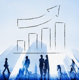 Bar Graph Growth Moving Up Improvement Concept Royalty Free Stock Photo