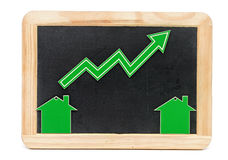 Bar graph of growth Royalty Free Stock Photo