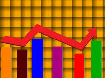 Bar graph Stock Photography