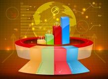 Bar graph invest marketing Stock Photo