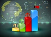 ฺฺBar graph investment overview Stock Photos