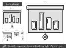 Bar graph line icon. Stock Images