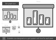 Bar graph line icon. Royalty Free Stock Photo