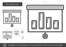 Bar graph line icon. Stock Image