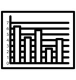 Bar Graph Line Isolated Vector Icon That can be easily modified or edit royalty free illustration