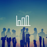 Bar Graph Marketing Analyzing Growth Increase Concept Stock Images